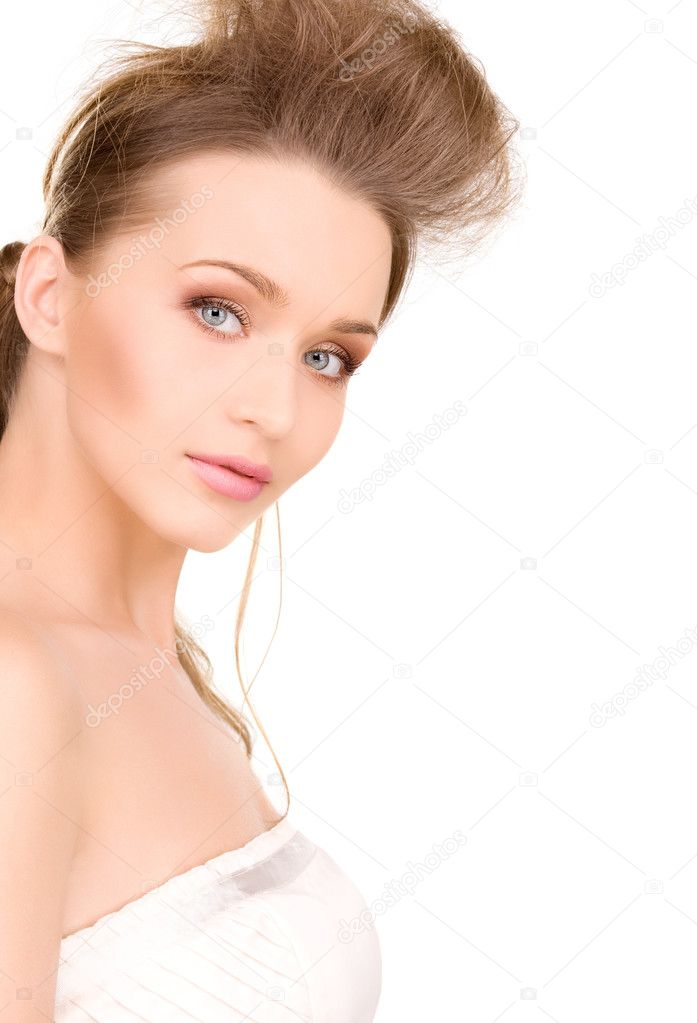Bright picture of lovely woman over white — Stock Photo #3248340