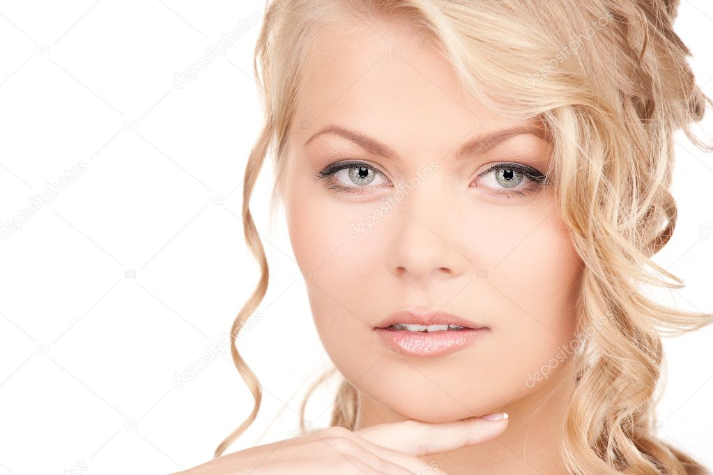 Bright picture of lovely woman over white — Stock Photo #3256045
