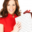 Happy woman with gift box — Stock Photo #3262763