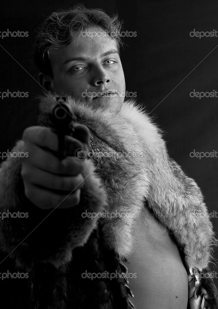 Man with a gun — Stock Photo #3264749