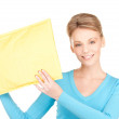 Businesswoman with parcel — Stock Photo