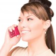 Happy woman with cell phone — Stock Photo #3301211