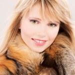 Lovely teenage girl in fur — Stock Photo #3330671
