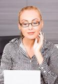 Office dívka — Stock fotografie