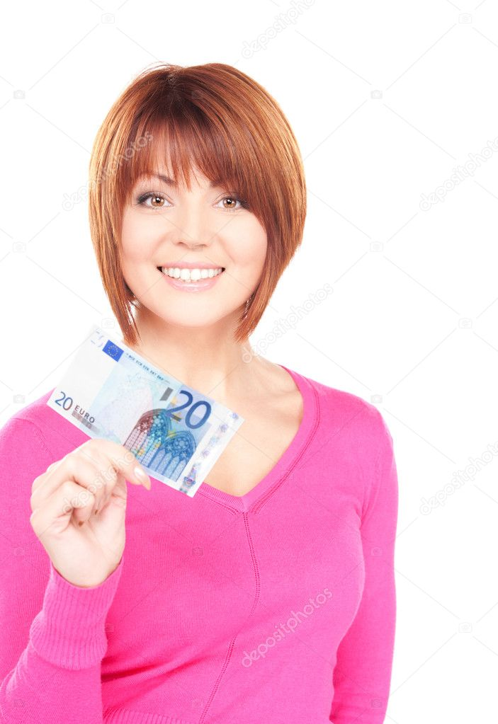 Picture of lovely woman with cash money — Stock Photo #3341133