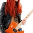 Stock Photo: Guitar babe