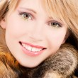 Lovely teenage girl in fur — Stock Photo #3450336