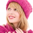 Happy teenage girl in hat — Stock Photo #3450586