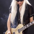 Rock babe — Stock Photo