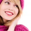 Happy teenage girl in hat — Stock Photo #3451124