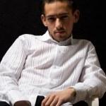 Man in white shirt — Stock Photo #3484755