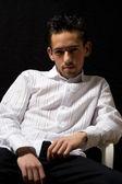 Człowiek w białej koszuli — Zdjęcie stockowe