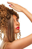 Lovely woman with fasionable hair — Stock Photo
