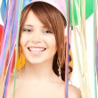 Stock Photo: Party girl with balloons