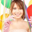 Party girl with balloons — Stock Photo #3569962