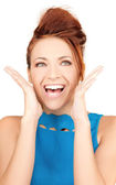 Surprised woman face — Stock Photo