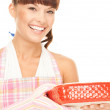 Cooking housewife — Stock Photo