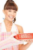Ev hanımı pişirme — Stok fotoğraf
