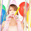 Party girl with balloons — Foto de Stock