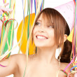 Party girl with balloons — Stock Photo #3793718