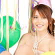 Party girl with balloons — Stock Photo #3799413