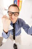 Rolig bild av affärsman i office — Stockfoto