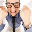 Funny picture of businessman in office — Stockfoto