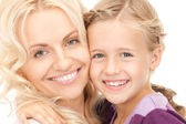 Lycklig mor och barn — Stockfoto