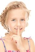 Dedo en los labios — Foto de Stock