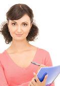 Junge attraktive geschäftsfrau mit notebook — Stockfoto