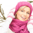Beautiful woman in winter hat — Stock Photo #4271619