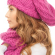 Beautiful woman in winter hat — Stock Photo #4306567