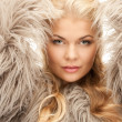 Beautiful woman in fur — Stockfoto #4328628