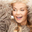 Beautiful woman in fur — Stockfoto