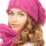 Beautiful woman in winter hat — Stock Photo #4363751