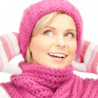 Beautiful womin winter hat — Stock Photo #4365483