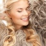 Beautiful woman in fur — Stock Photo