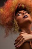 Piękne kobiety z modne włosy — Zdjęcie stockowe