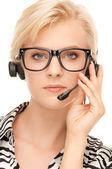 Opérateur de service d'assistance téléphonique — Photo