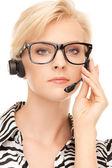 Helpline operator — Stock Photo