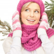 Beautiful womin winter hat — Stock Photo #4443666