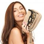 Lovely woman with small handbag — Stock Photo #5001194