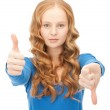Thumbs up and thumbs down — Stock Photo #5180665
