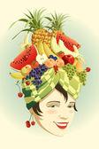 Fruit hat. — Stock Vector