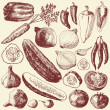 Vegetable set. — Vettoriale Stock