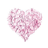 Broken glass heart — Stock Photo