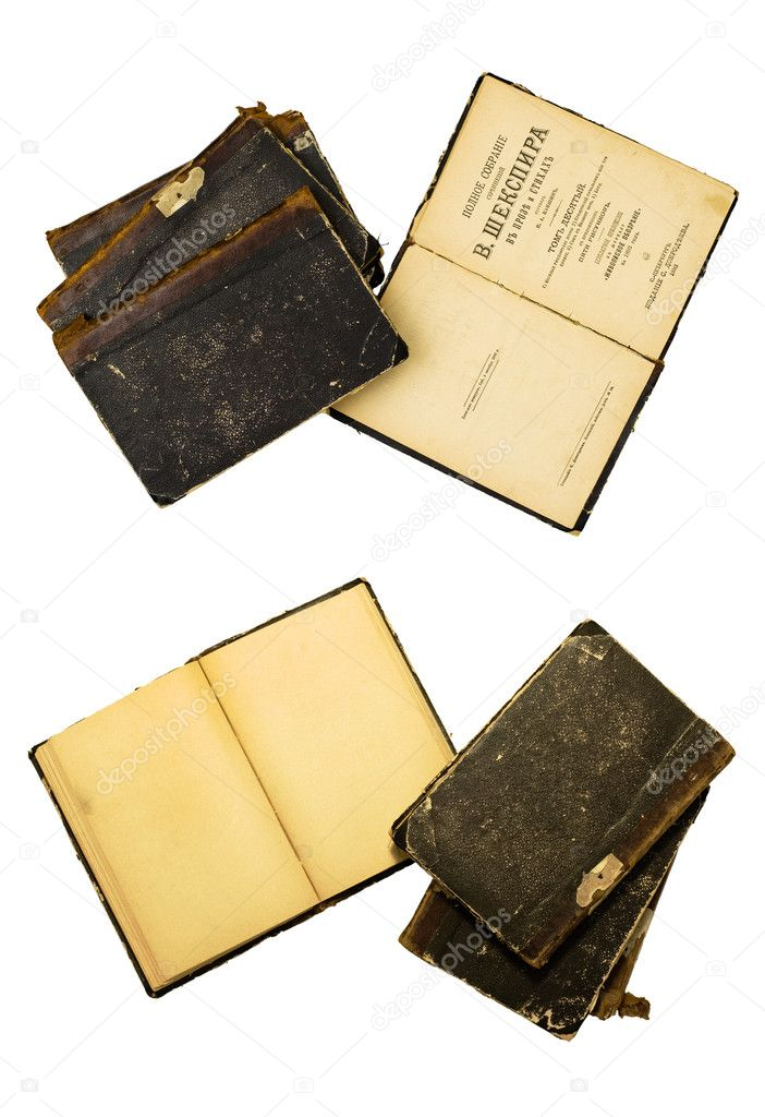 Antique book edition. Shakespeare in Russian translation. — Stock Photo #3308784