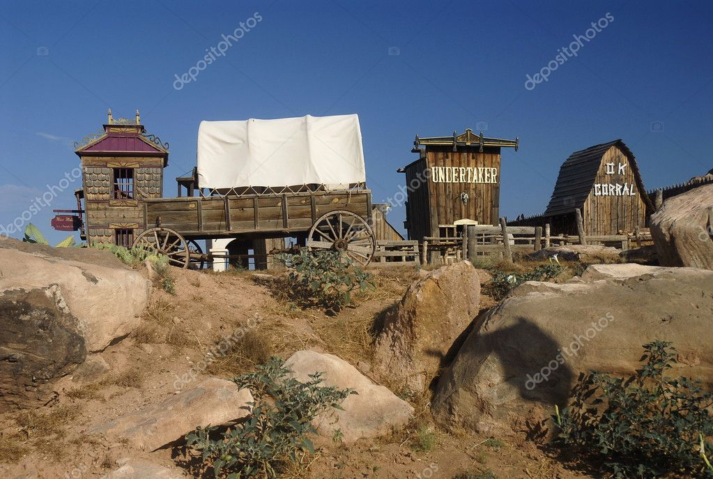 Wild west ghost town near Virgin, Utah — Stock Photo #3296232
