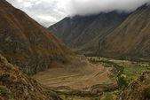 Q'ente, or Hummingbird ruins, Inca trail — Stock Photo