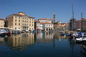 Piran from marina — Stock Photo